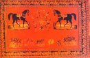 Иллюстрированный ковёр. 19-й век. Карабахская школа